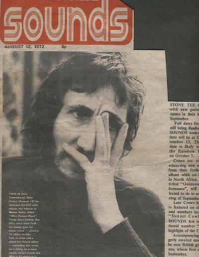 Pete Townshend, London 1972